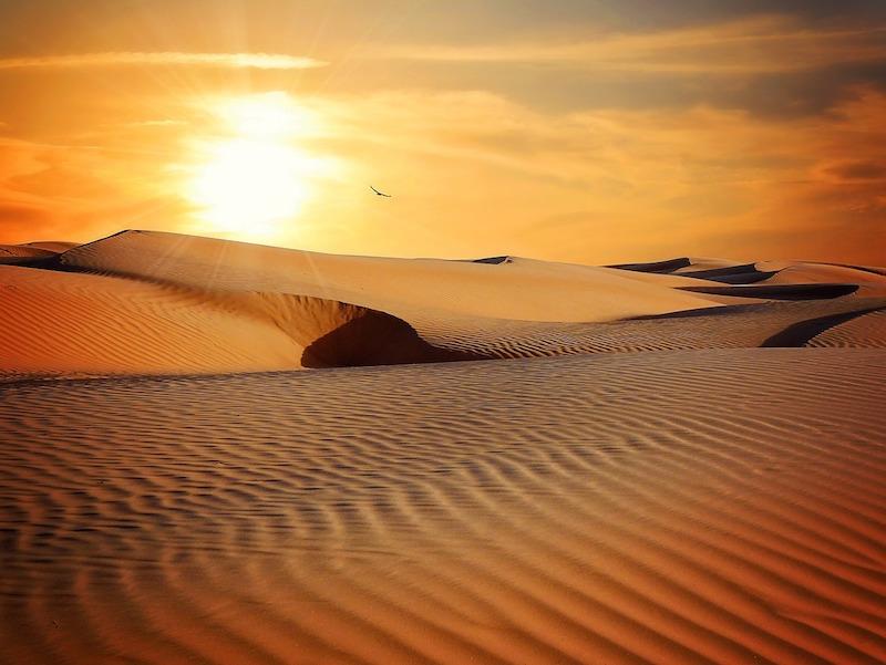 Dubai öken - Att fly för en stund för att hinna ikapp