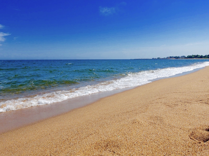 Strand på Österlen